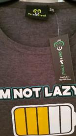 Men's - I'm not lazy... Short Pyjama Set - XL