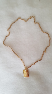 Beautiful gold necklace (14k), with pendant (18k), 7 gr total