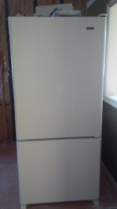 GE Dishwasher and Kenmore Fridge White