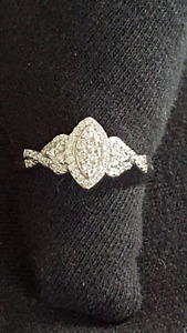 Brand New Halo Marquis Diamond Ring