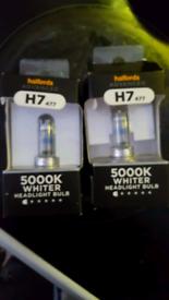 Used, H7 5000k whiter headlight bulbs for sale  Minster on Sea, Kent