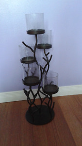 Candle holder and butterfly art