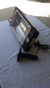 Hanging Garage area heater with light.