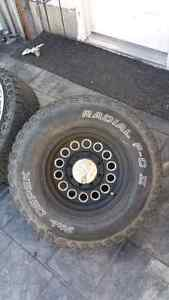 Mickey thompson wheels with tires and hardware