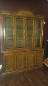 China Cabinet, Sofa and Chair Set