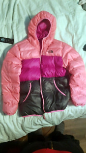 THE NORTH FACE LARGE GIRLS PUFFER WINTER JACKET REVERSEABLE