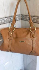 Storksak Elizabeth Leather Nappy Bag.