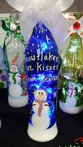 RECYCLED GLASS - HAND PAINTED CHRISTMAS  DECORATIONS Edmonton Edmonton Area image 2