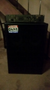 Peavey mega bass amp and Yorkville 2 x10 and 15 cabinet