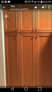 oak cabinets and pantry
