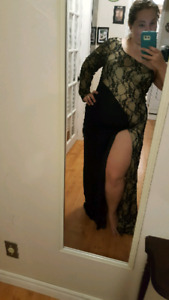 NEWYEARS CHRISTMAS OR WORK PARTY Fancy gold and black lace dress