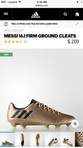 Size 9 Men's Messi Adidas 16.1 Soccer Cleats