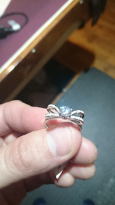 925 Sterling Silver Size 8 Bow Ring