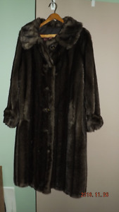 Lady's artificial fur coat