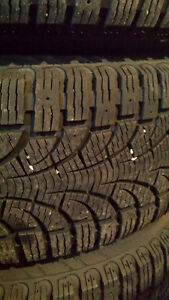 Used snow tires on aluminum rims excellent condition