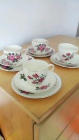 Vintage Empire tea cups trio