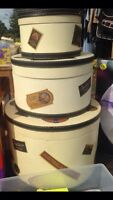 Hat Boxes Set of 3
