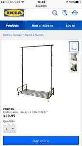 Ikea portis clothing rack