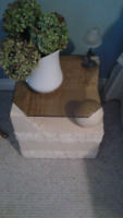 Side Table 15 inches height 16 Wide