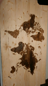 Wooden map of the world