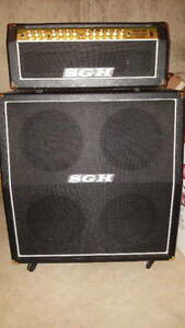 "Half Stack and Amp, SGH 4x12"" Cabinet/Head and Switch Pedal"
