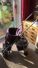 Mothercare Urban Detour Back Carrier Stroller 2in1