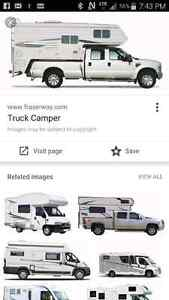 Wanted **  camper 3/4 ton 6 to 8 foot