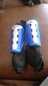 Youth soccer shin pads