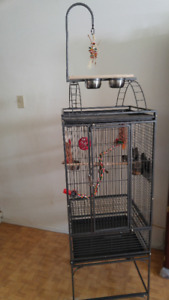 All Living Things Skyscraper bird cage with stand
