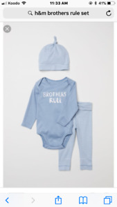 Boys 1-2 months 'Brothers Rule' set