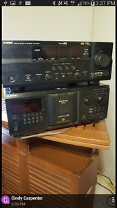YAMAHA RECEIVER / SONY 300 CD PLAYER