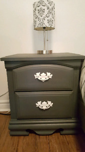 Hand Painted Wood Night Table