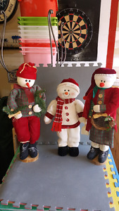 3 Christmas  standing ornaments