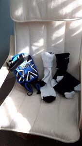 Brand new shin pads and socks Kitchener / Waterloo Kitchener Area image 1