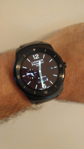 LG G-Watch R Android Wear Watch, Fitness Tracker, Heart Monitor