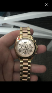 Michael kors rose gold and gold watch