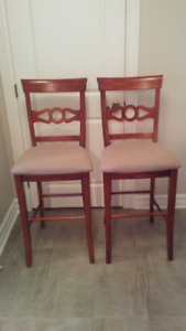 Bar stools, solid wood