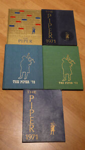 Hardcover PIPER YEAR BOOKS 1969,1971,1972,1973