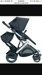 Britax bready double stroller with 2nd seat.