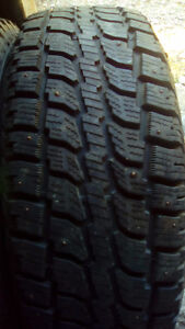 Two Studded wintercat 275 60 17 tires