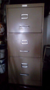 COMMODORE FILING CABINET Letter Size , 3 Drawer, Tan, Fireproof
