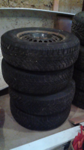 Winter tires on rims 215/70R15