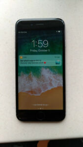Apple iPhone 6 (64GB) with charger - $220
