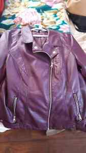 Plus size soft shell leather jackets