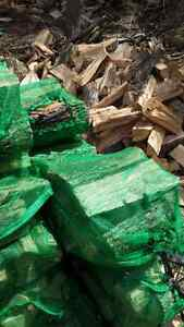 Dry firewood bags and cords