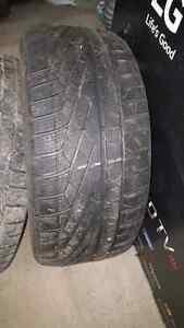 2 winter tires 235/45/R18 and  245/45/R18 West Island Greater Montréal image 2