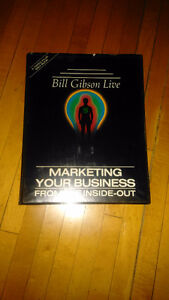4 tapes and book. Marketing your business