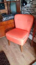 Orange linen chair