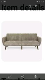 Annalise luxury velvet large 3 seater sofa bed