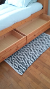 Solid Wood Twin Bed $250.
